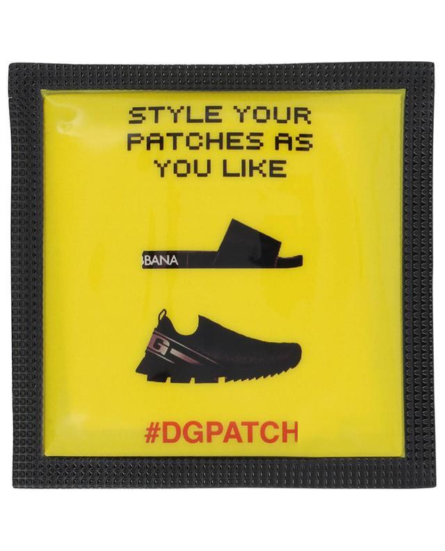#DGPATCH Love fuchsia shoe patch DOLCE & GABBANA