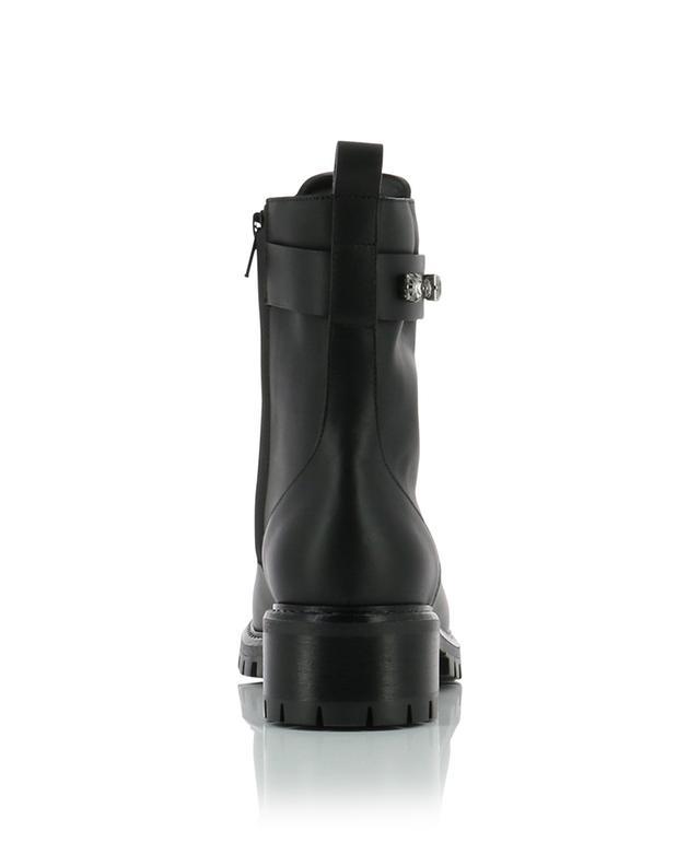 Mara crystal embellished leather lace-up ankle boots FABIANA FILIPPI