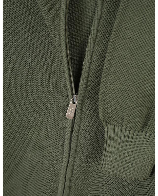 Cardigan zippé en coton FEDELI