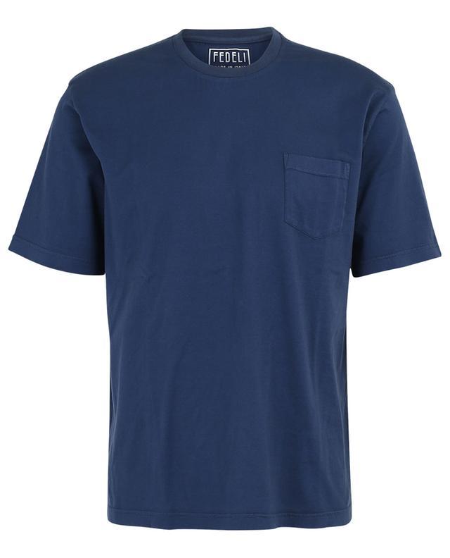 T-shirt en coton Supima avec poche poitrine Abe FEDELI