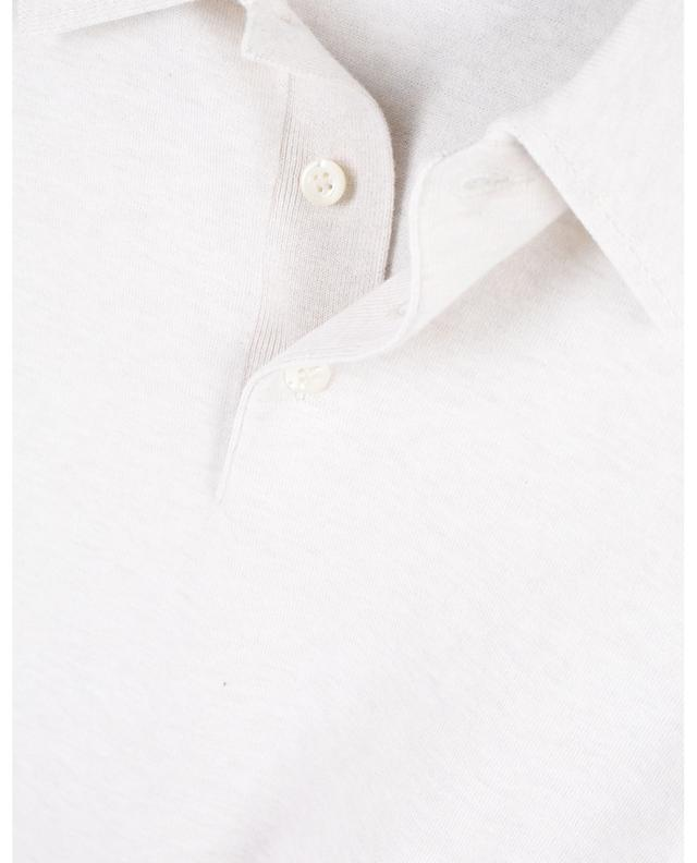 Tennis fine cotton knit polo shirt GRAN SASSO