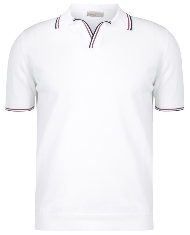 Polo slim en maille légère à bords contrastés Tennis GRAN SASSO