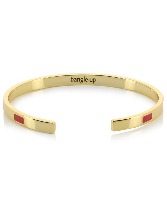 Jonc doré orné d'émail Tempo Rouge Velours BANGLE UP