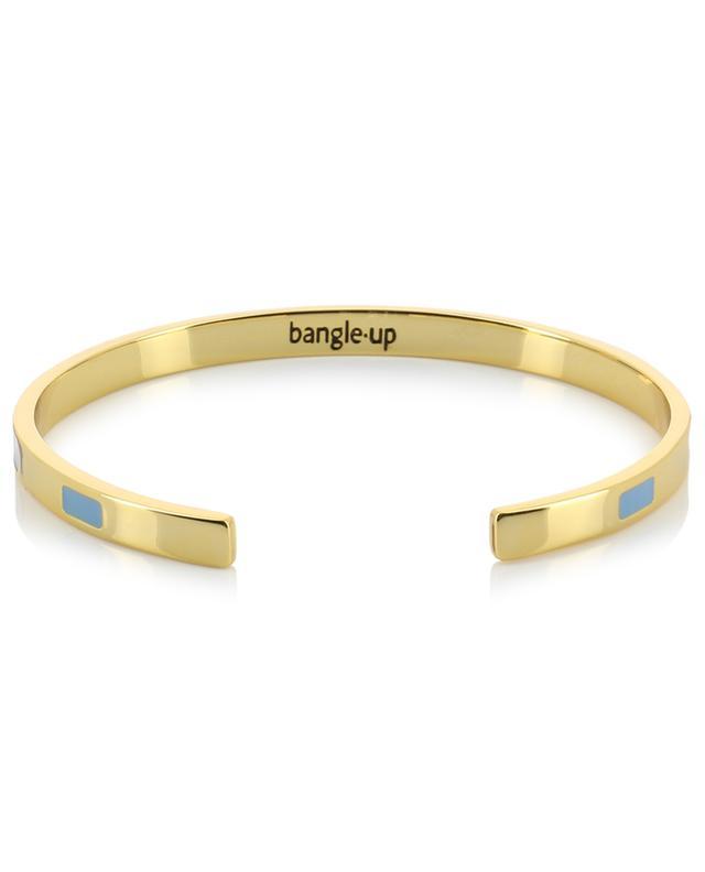 Tempo Bleu Glacier golden bangle with enamel BANGLE UP