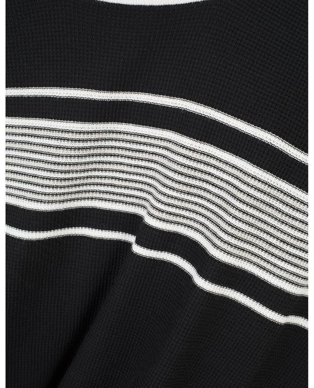 Pull manches courtes en coton à rayures PAOLO PECORA