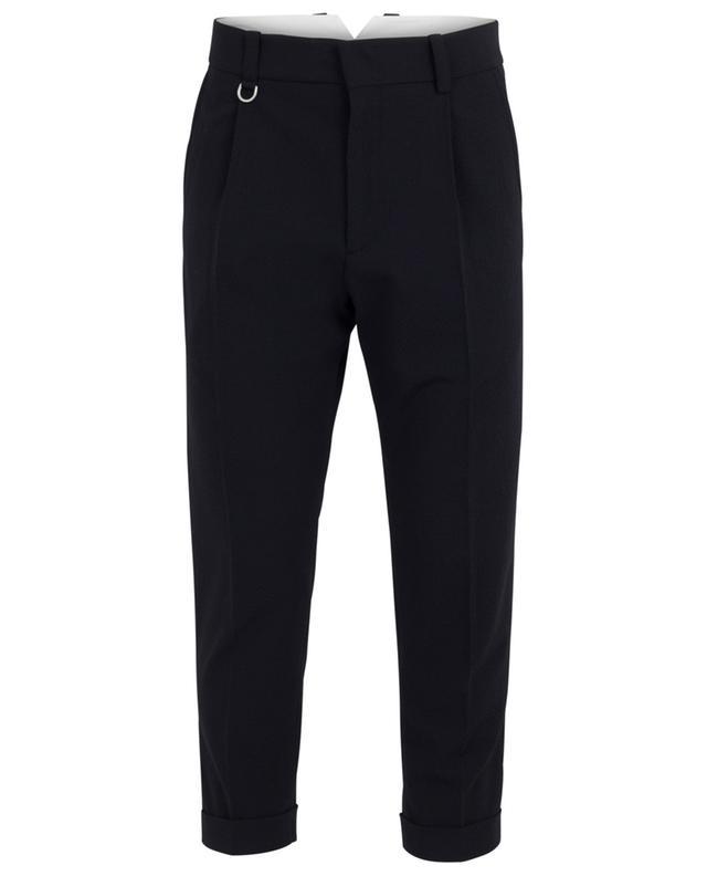 Pantalon classique en seersucker PAOLO PECORA