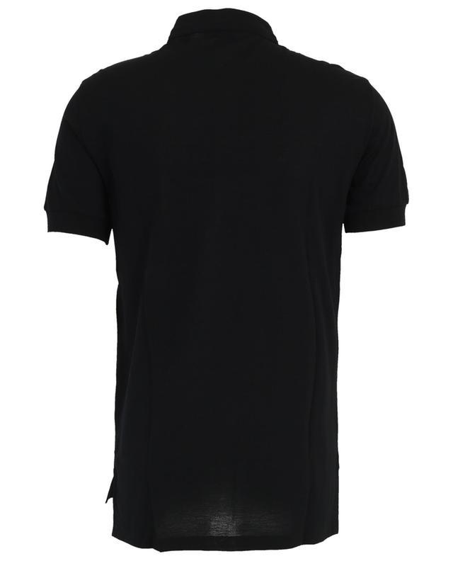 T-shirt fin en coton piqué col Mao PAOLO PECORA
