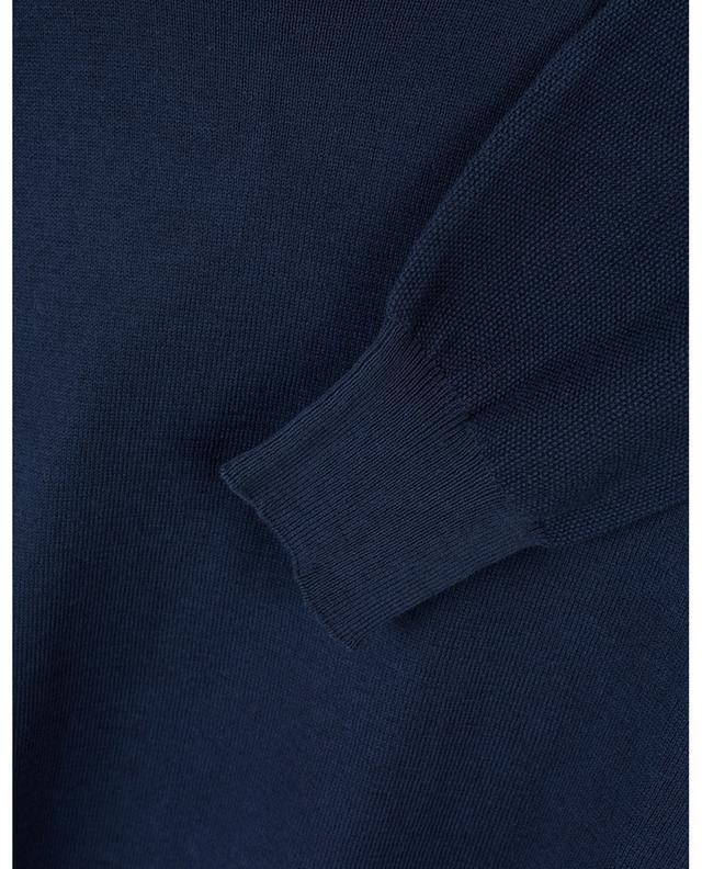 Pull col rond en coton texturé PAOLO PECORA
