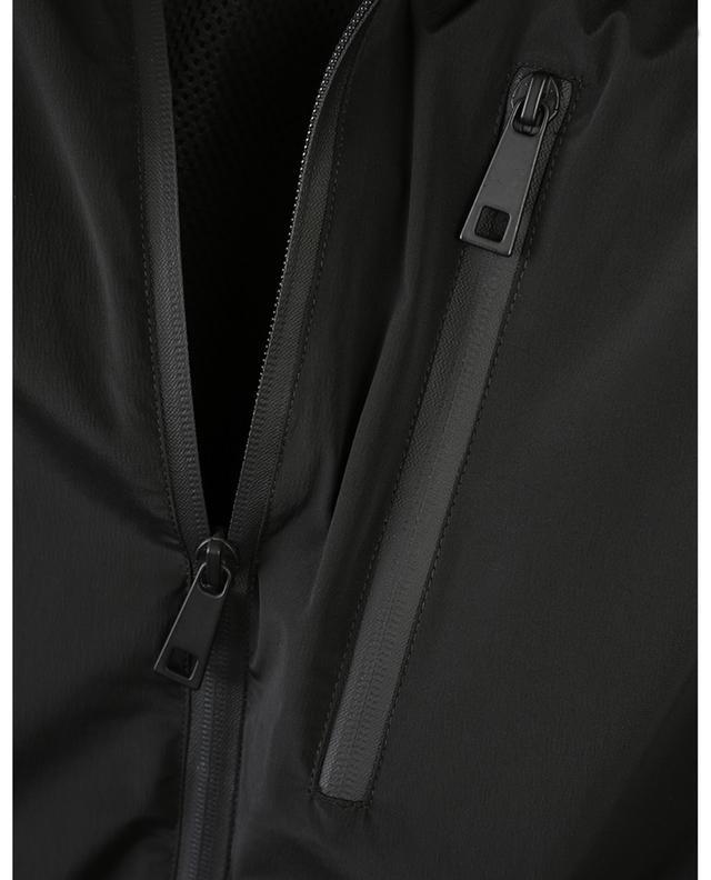 Veste en tissu technique à capuche PAOLO PECORA