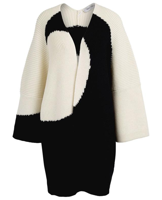 Large cardigan ouvert en laine vierge VALENTINO