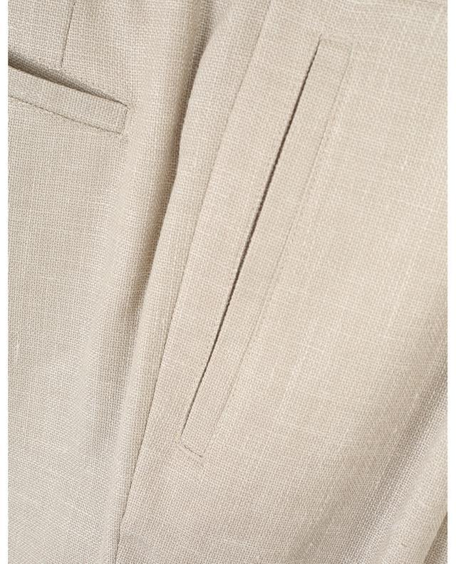 Pantalon droit en laine vierge, soie et lin Chiaia MARCO PESCAROLO