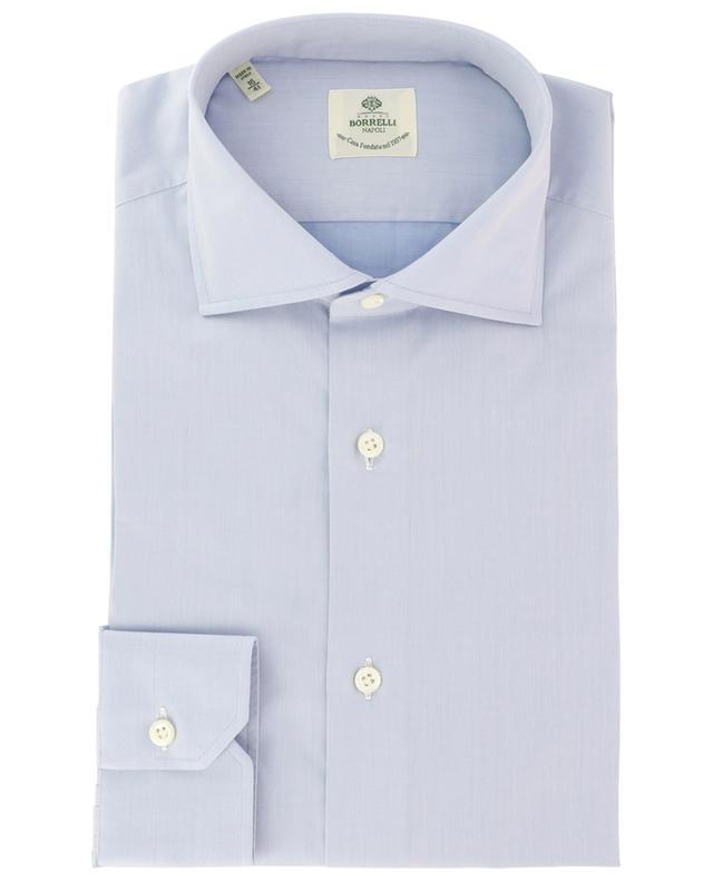 Fabio classic solid coloured cotton shirt LUIGI BORRELLI
