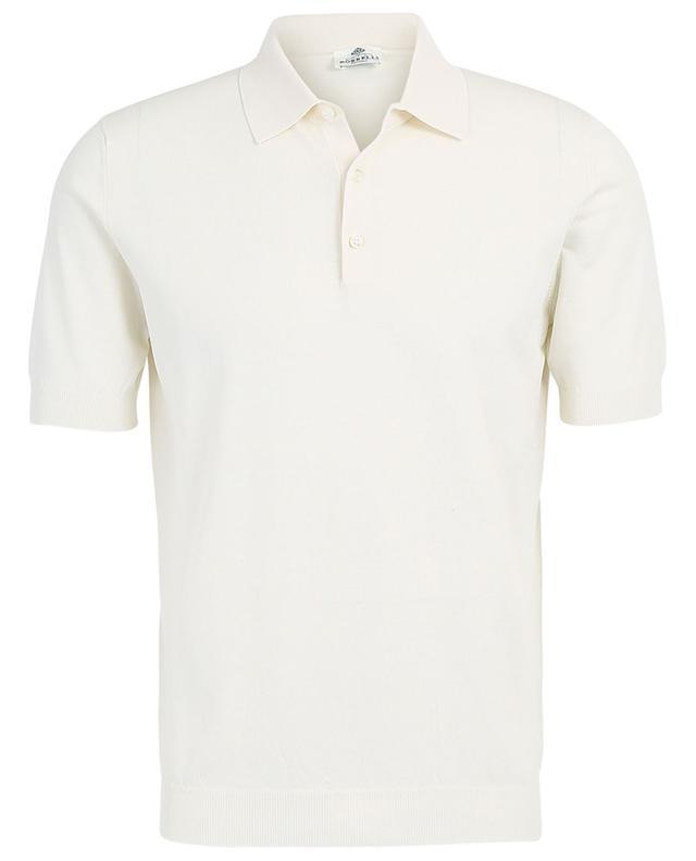 Polo slim à manches courtes en coton LUIGI BORRELLI