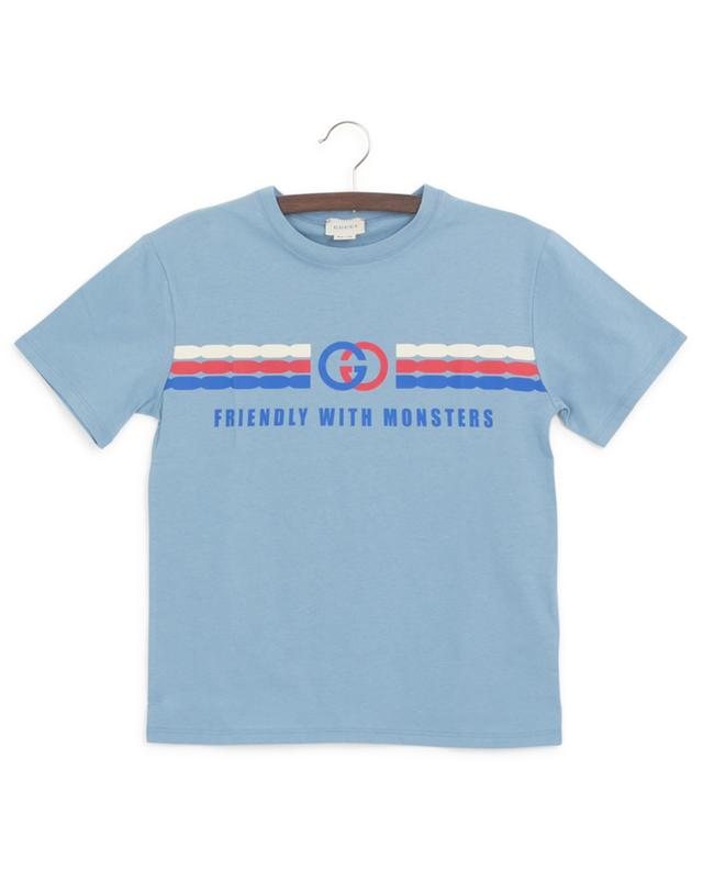 T-shirt imprimé Interlocking G Friendly with Monsters GUCCI
