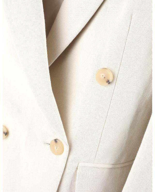 Blazer à double boutonnage en lin et coton mélangés VINCE