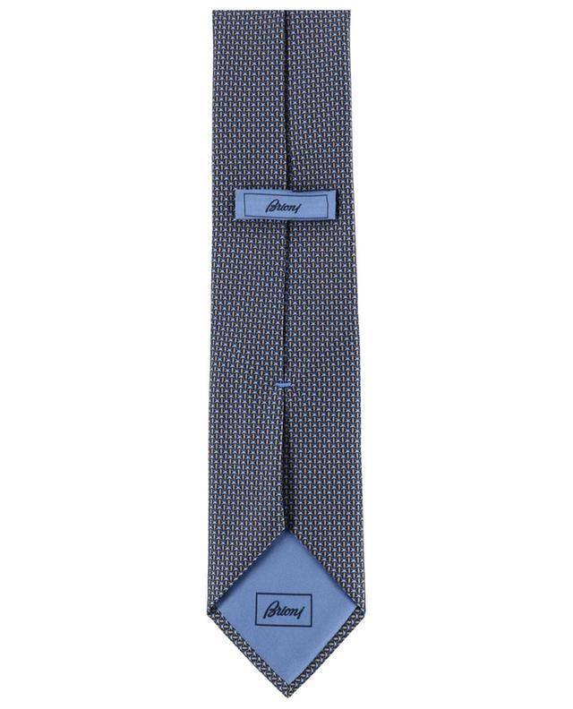 Coffret cravate et pochette en soie imprimée BRIONI