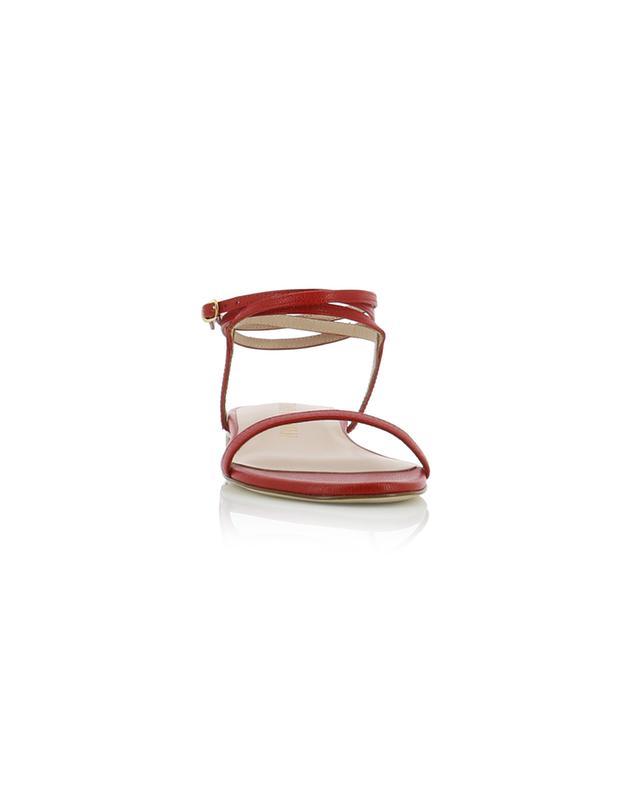 Sandales plates en cuir texturé Merinda STUART WEITZMAN
