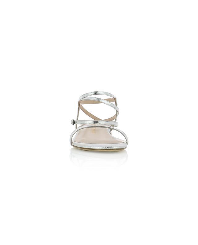 Sandales plates en cuir métallisé Merinda STUART WEITZMAN