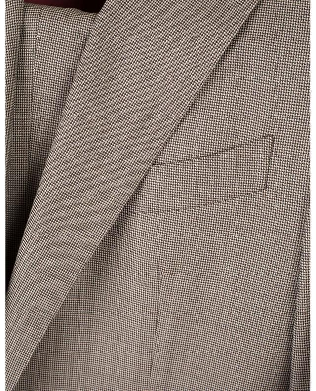 Aida houndstooth check wool suit CARUSO