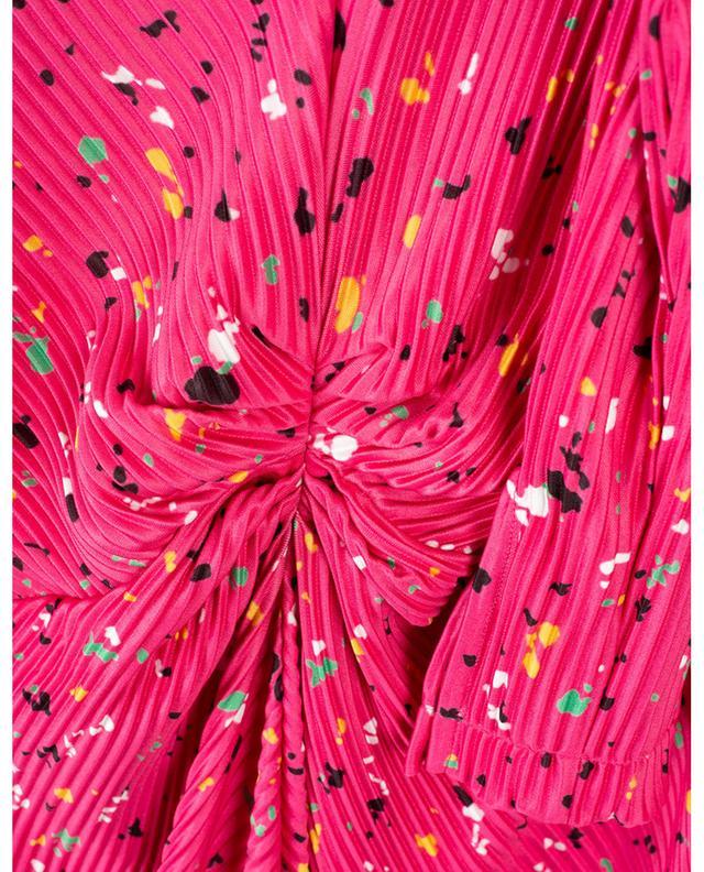 Robe longue drapée imprimée Number 7 Pleat ROTATE BIRGERCHRISTENSEN