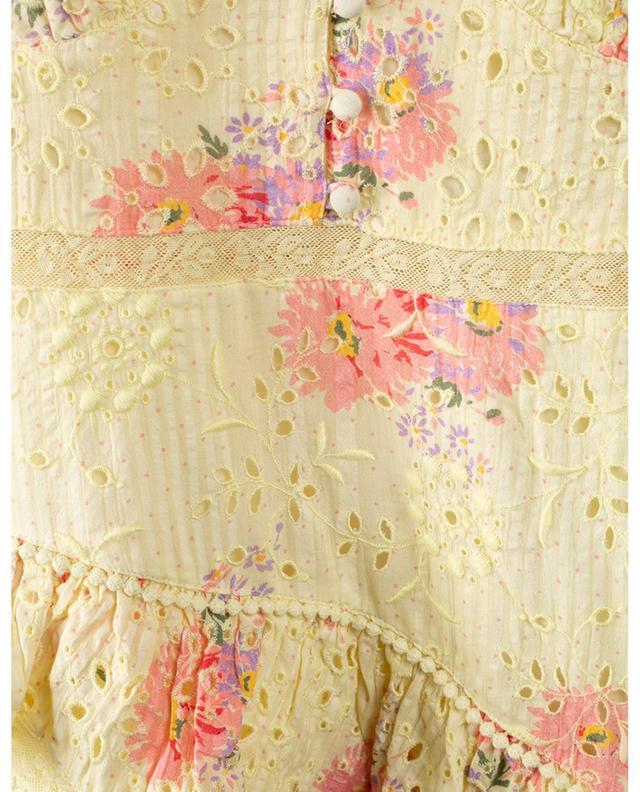 Minirobe en coton texturé brodé et imprimé Bea LOVESHACKFANCY