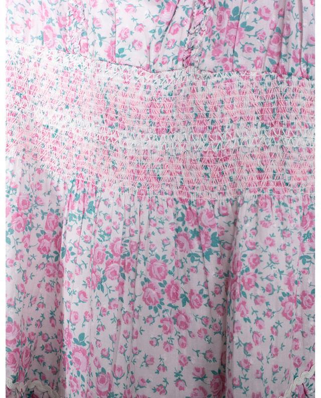 Robe de plage fleurie en coton LOVESHACKFANCY