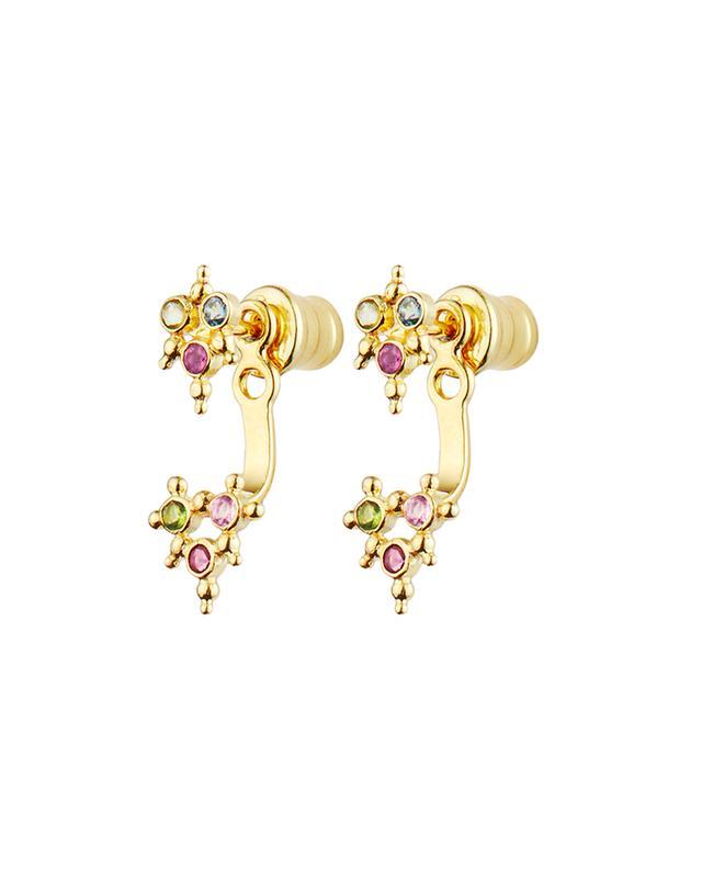 Goldene Ohrstecker mit Anhänger und Kristallen Luxume MARIE-LAURE CHAMOREL