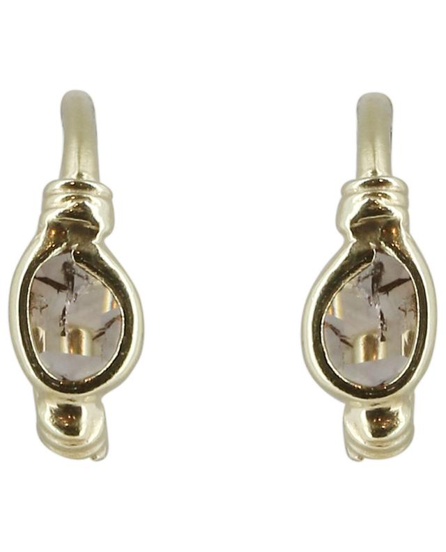 Goldene Mini-Creolen mit Kristallen Luxume 7 mm MARIE-LAURE CHAMOREL