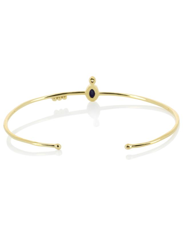 Mani yellow gold plated bangle with sapphire and zircon BE MAAD