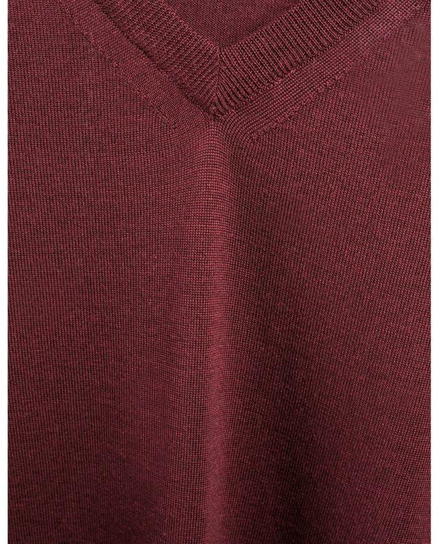 Fine virgin wool and silk V-neck jumper MAURIZIO BALDASSARI