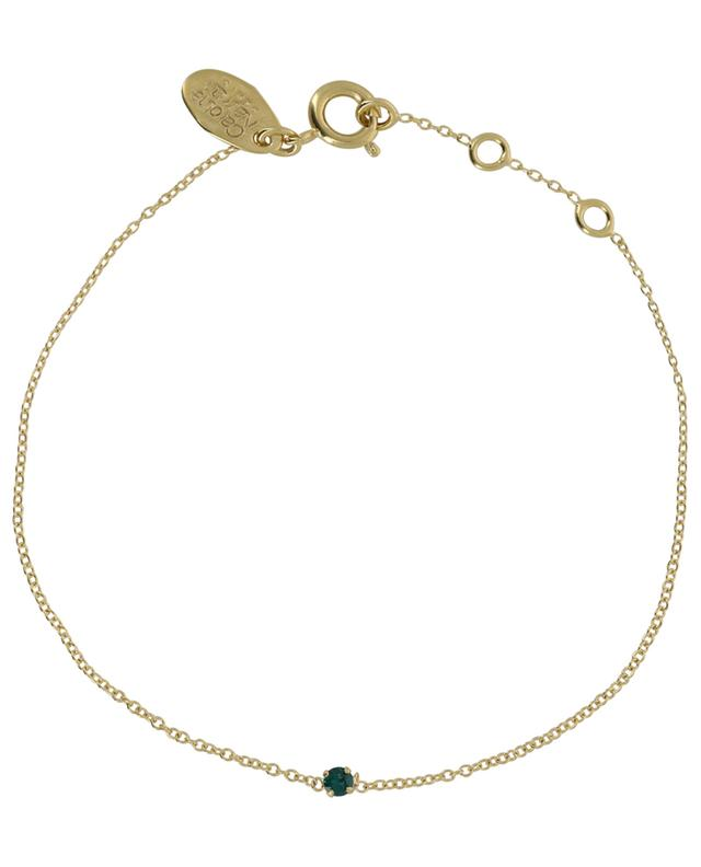 Paris golden bracelet with green crystal CAROLINE NAJMAN