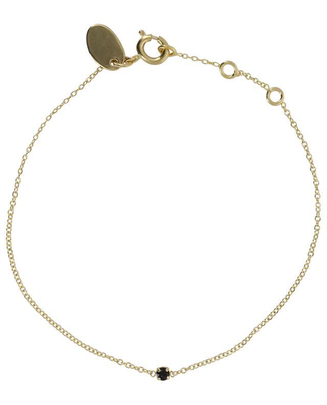 Paris golden bracelet with black crystal CAROLINE NAJMAN
