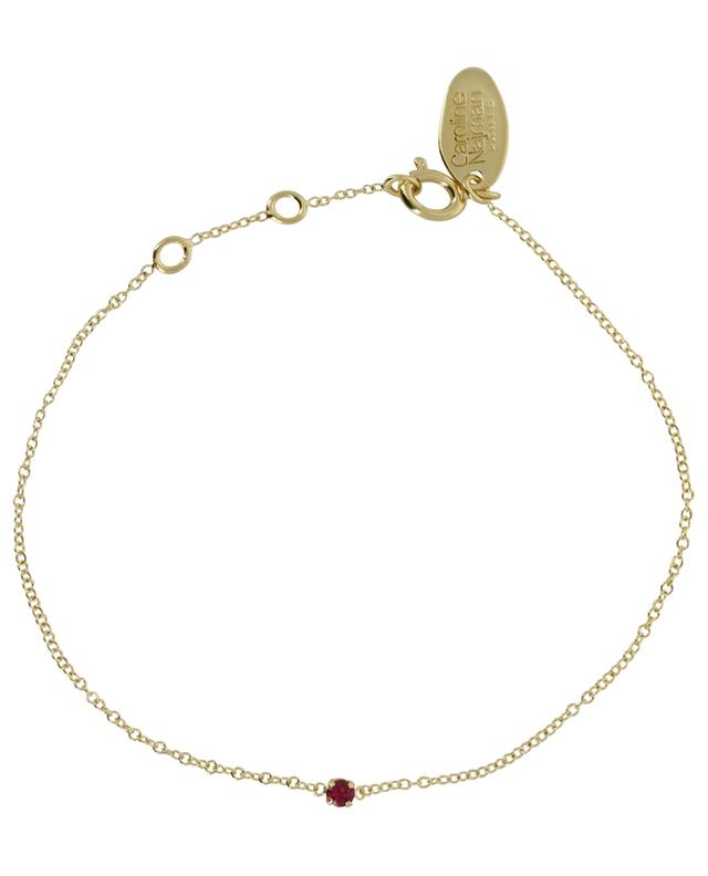 Paris golden bracelet with red crystal CAROLINE NAJMAN