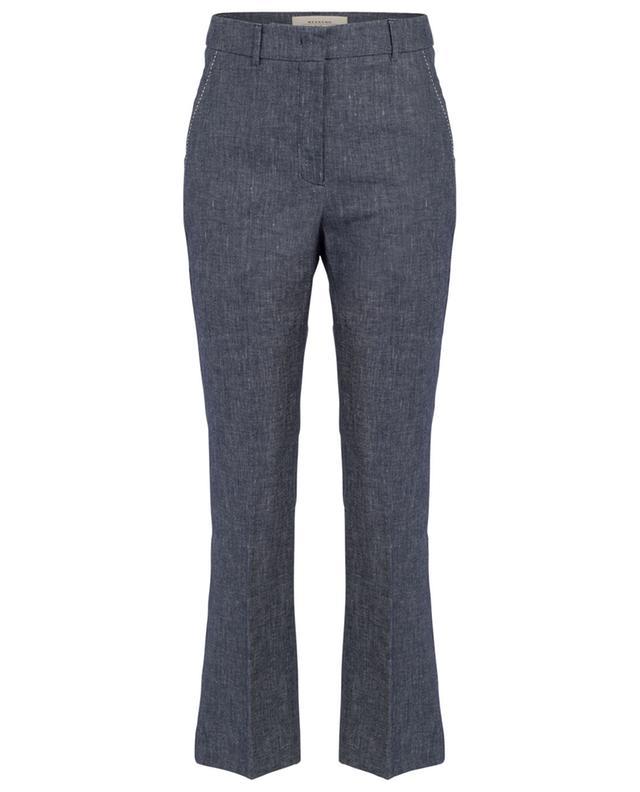 Pantalon droit en lin et coton Albio WEEKEND MAXMARA