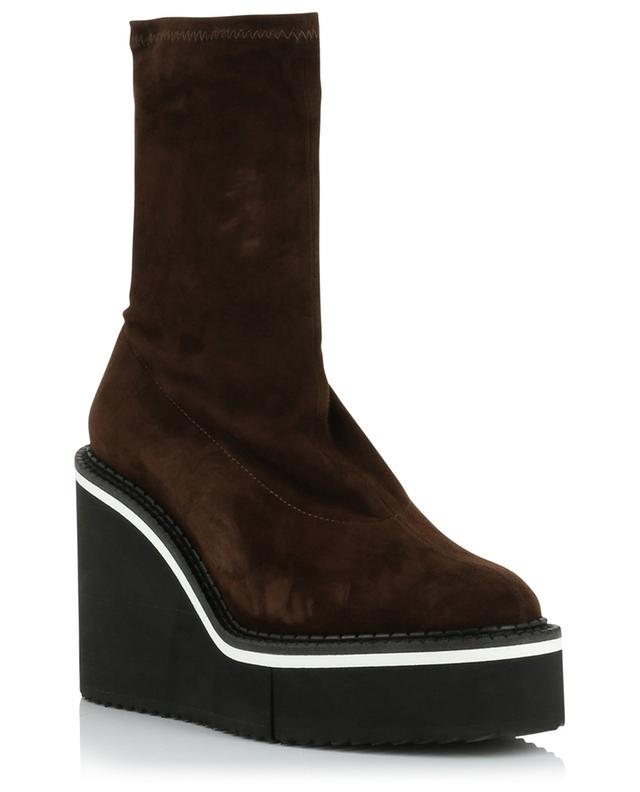 Bliss suede wedge ankle boots CLERGERIE