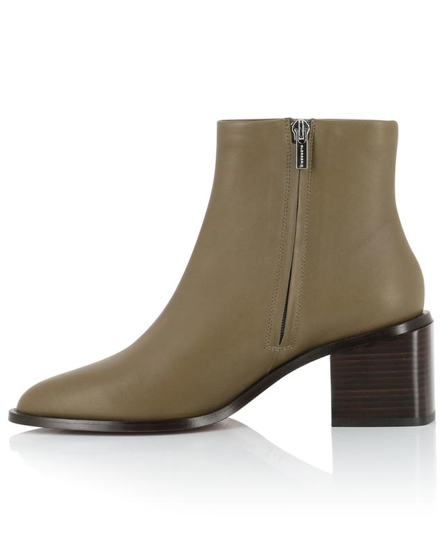 Xenia block heel leather ankle boots CLERGERIE