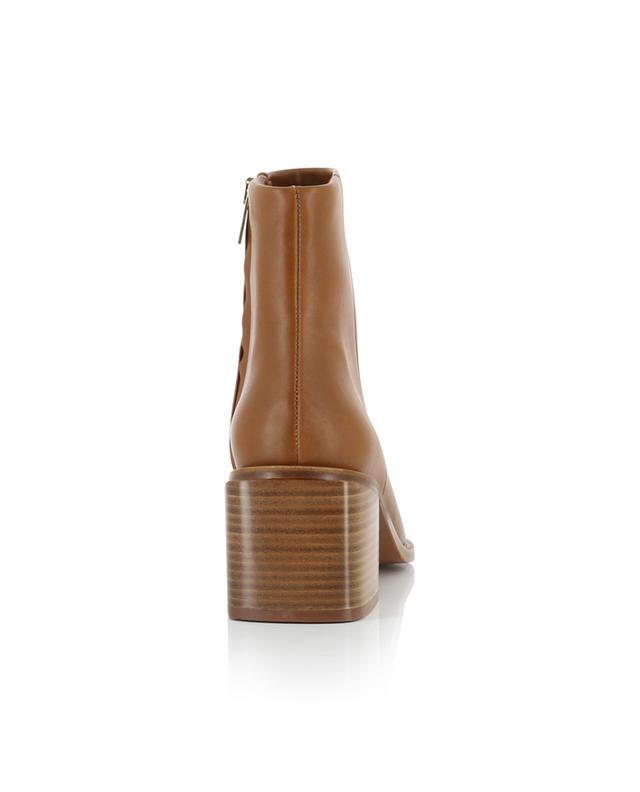 Stiefeletten aus Leder mit Blockabsatz Xenia CLERGERIE