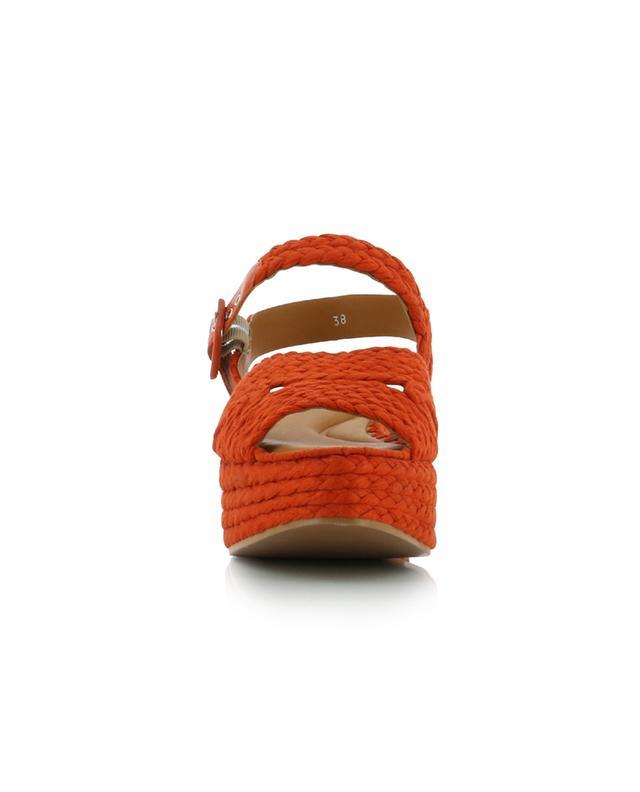 Sandales compensées tressées en coton Alda3 CLERGERIE
