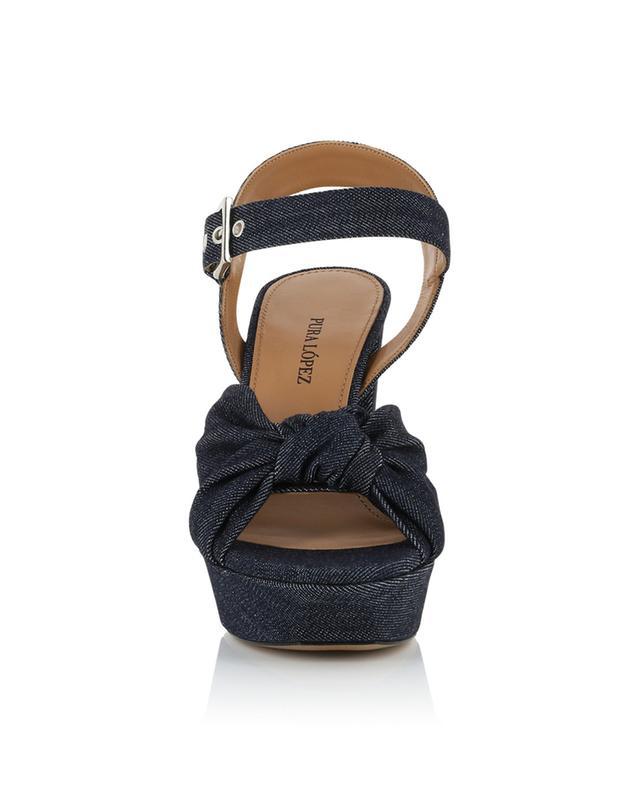 Sandales à plateau en denim Quilma PURA LOPEZ