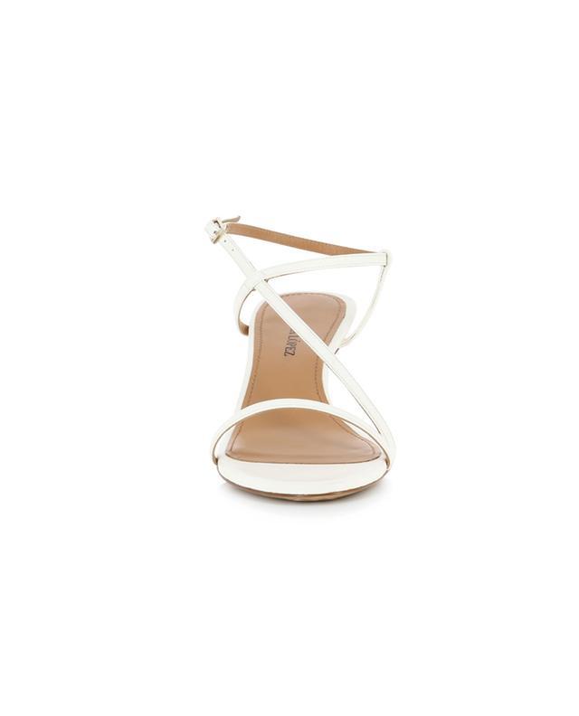 Sandales en cuir lisse à petit talon Laquenda PURA LOPEZ