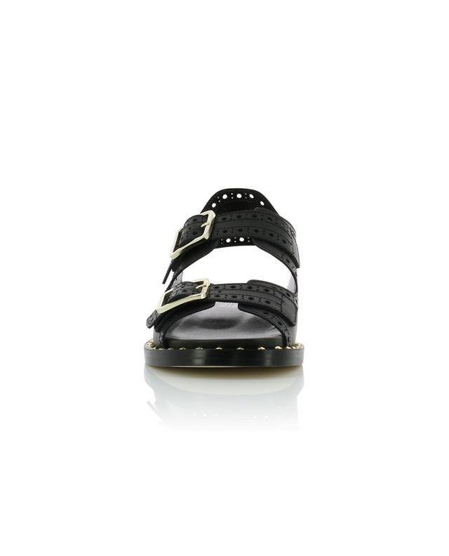 Flache Sandalen aus perforiertem Leder BONGENIE GRIEDER
