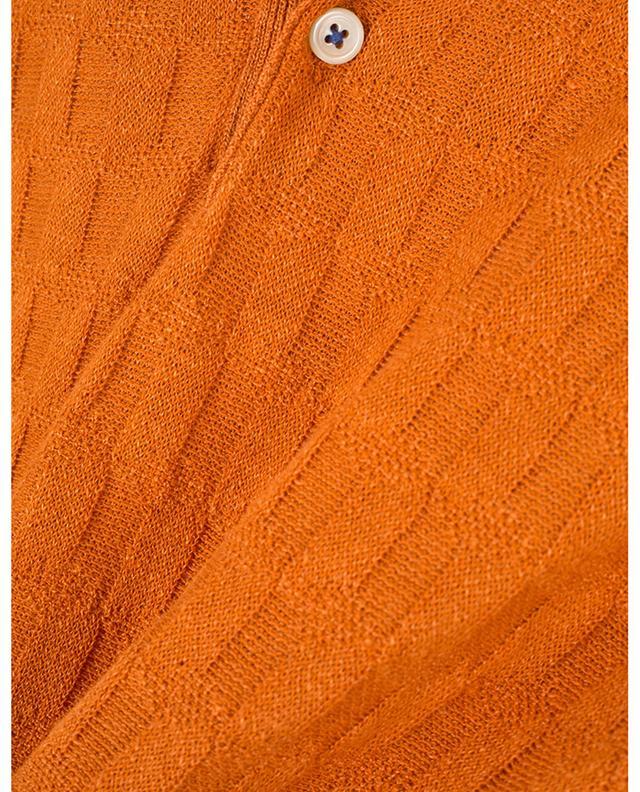 Polo manches courtes en coton et lin texturés Lexi MCLAUREN