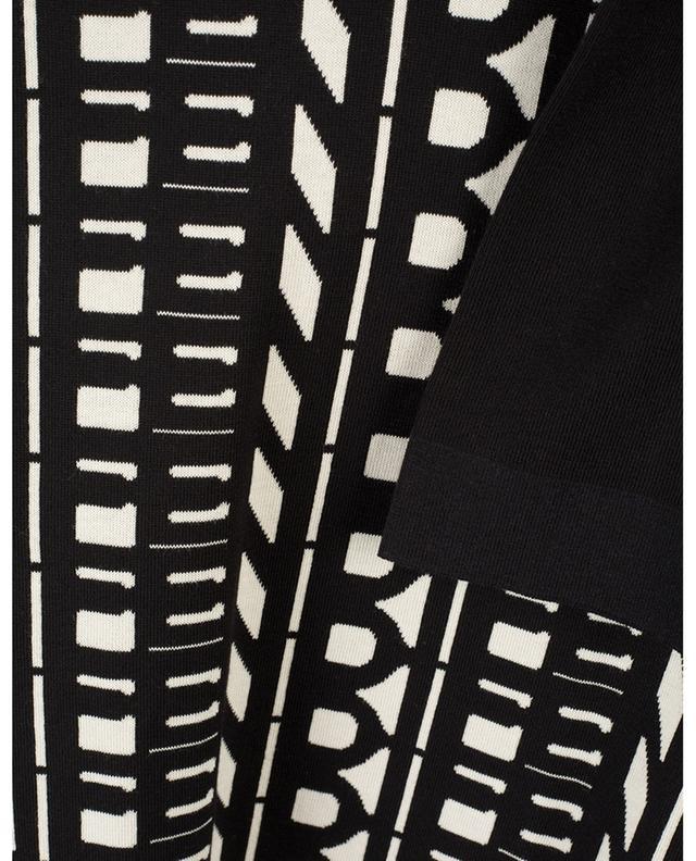 Pull en coton imprimé logo FENDI