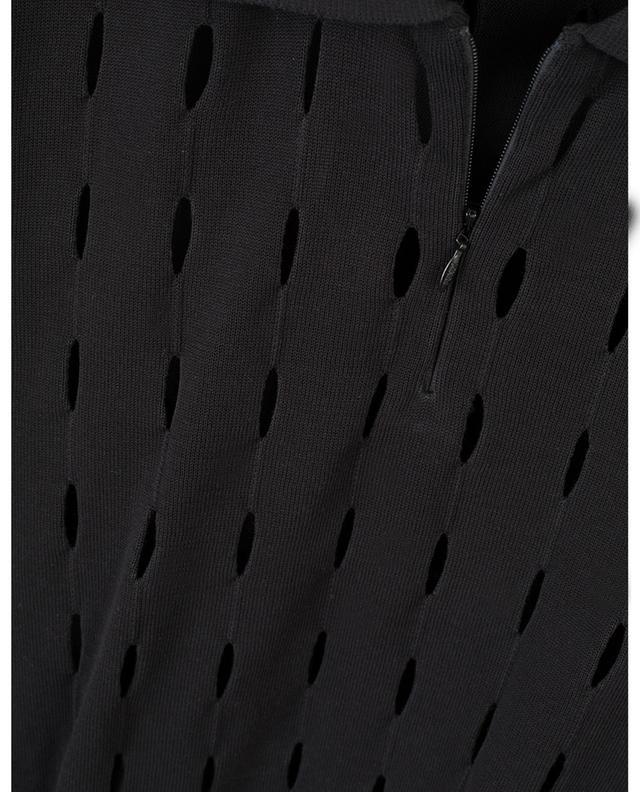 Polo en maille de coton ajourée FENDI
