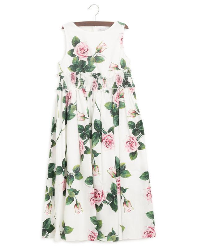 Robe longue sans manches Tropical Rose DOLCE & GABBANA