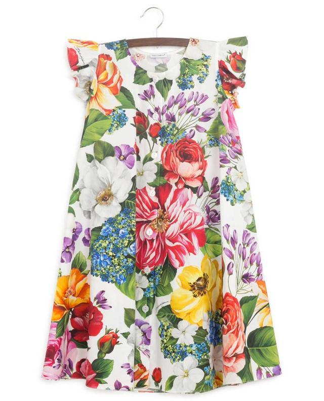 Robe chemise trapèze fleurie Blooming DOLCE & GABBANA