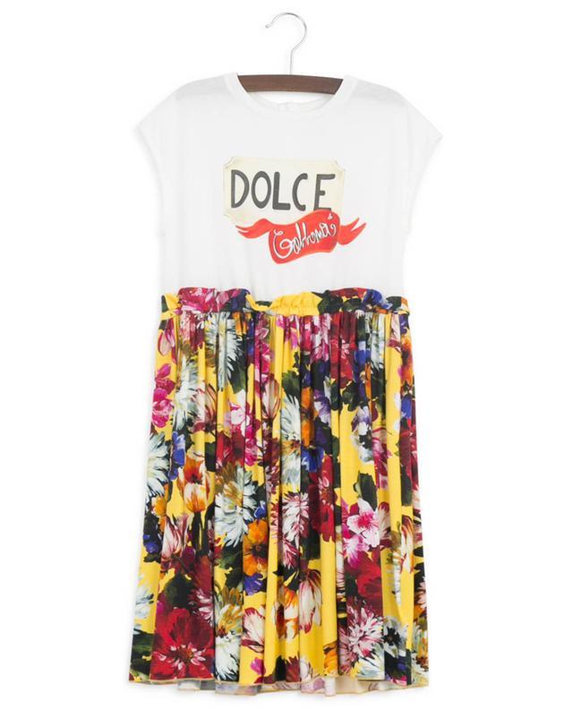 Robe sans manches en jersey Blooming Logo DOLCE & GABBANA