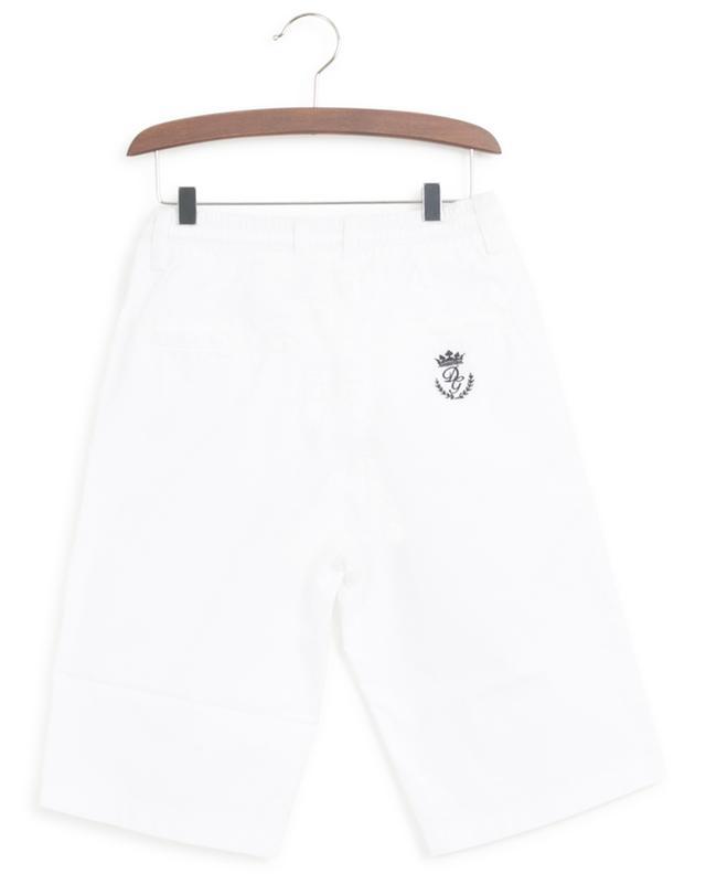 Heraldic Logo embroidered poplin Bermuda shorts DOLCE & GABBANA