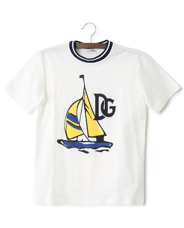 T-shirt en jersey imprimé voilier DG Summer Smile DOLCE & GABBANA