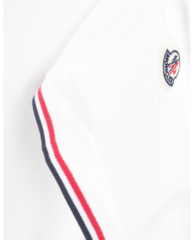 T-shirt en coton stretch col V MONCLER